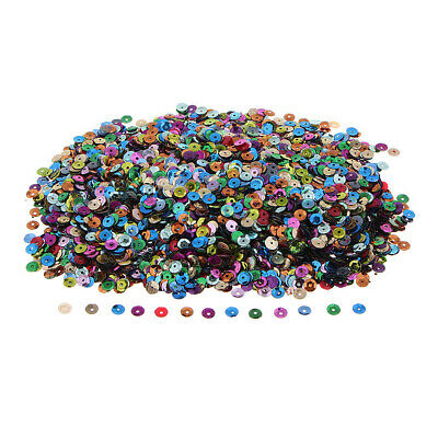100g 6mm Loose Cupped Sequins 10 COLOURS Craft Sewing Applique Scrapbooking