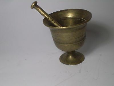Unique Antique Greek Traditional Hand Crafted Engraved BRASS  Mortar . 2,5''.
