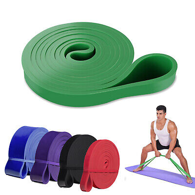 Heavy Duty Resistance Bands Mobility Latex Powerlifting Stretching eGuide lot