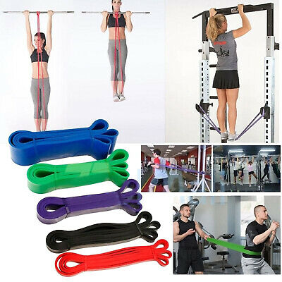 Heavy Duty Resistance Band Loop Gym Fitness Exercise Yoga Workout Pilates LOT