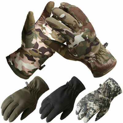 Tactical Fleece Lined Full Finger Gloves Men's Thermal Army Motorcycle Cycling