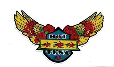 "Sticker / Decal ""HOT TUNA"" SURFING 1970's Retro Woody SURFBOARD!!"