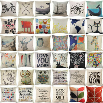 "18"" Linen Cotton Fashion Throw Pillow Case Cushion Cover Home Sofa Home Decor"