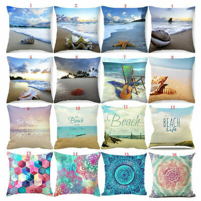 Beautiful Seaside Scenery Pillow Case Pillow Cover Sofa Cushion Cover Home Decor