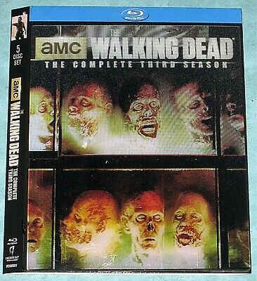 THE WALKING DEAD S3, or S4, or S7  Lenticular Blu ray slipcover (No Movie Disc)