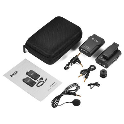 Omni-Directional Lavalier Wireless Microphone for DSLR Camera Smartphones LF791