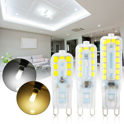 10pcs G9 5W/8W/12W LED Dimmable Transparent Cápsula Bombilla Luz Lámpara Halogen