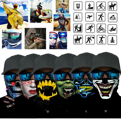 Skull Motorcycle Cycling Neck Scarf Half Face Mask Bandana Ski Sports Headband