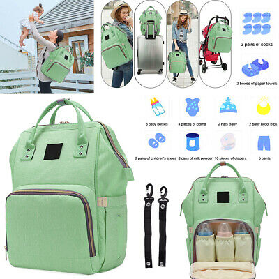 Multi-Functional Large Capacity Diaper Bag Stylish Mummy Storage Backpack BB048