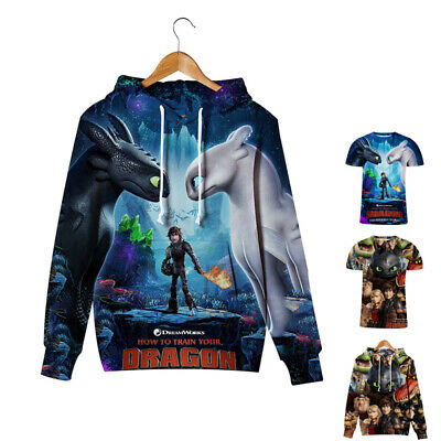 Kids Boy Hoodie How to Train Your Dragon Pullover Tops Hooded Sweatshirt T-Shirt