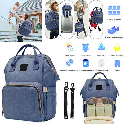 Multi-Functional Large Capacity Diaper Bag Stylish Mummy Storage Backpack BB047