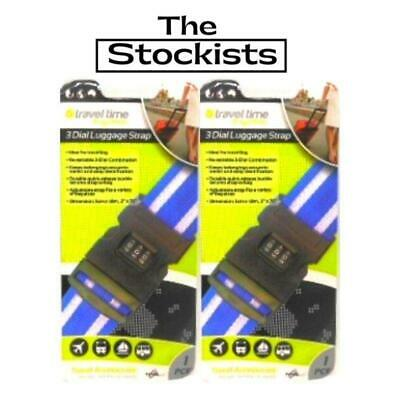 LUGGAGE 3 DIAL STRAP  x 2 - TRAVEL- FREE DELIVERY AUST -THE STOCKISTS