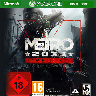 Metro 2033 Redux Xbox one Digital Key Code Region Free (No CD/DVD)