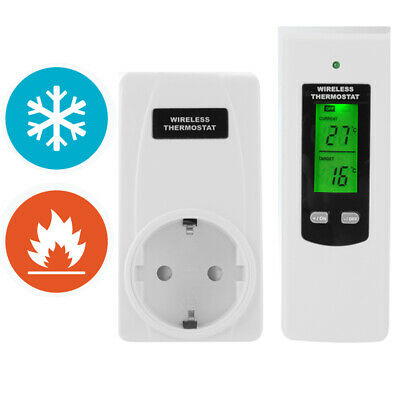 Wireless Plug in Heating Thermostat Remote Control Electric RF Socket TE647