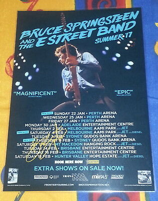 BRUCE SPRINGSTEEN - SIGNED AUTOGRAPHED 2017 Australia Tour Poster - Laminated