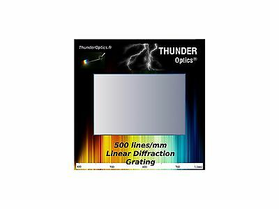 """Pack of 10 - Diffraction Grating Slide -Holographic- 500 Lines/mm - 2""""x2"""""""