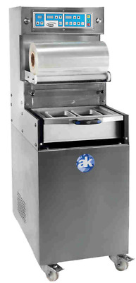 Semi-automatic food tray sealer with vacuum and gas function - Model TS-550