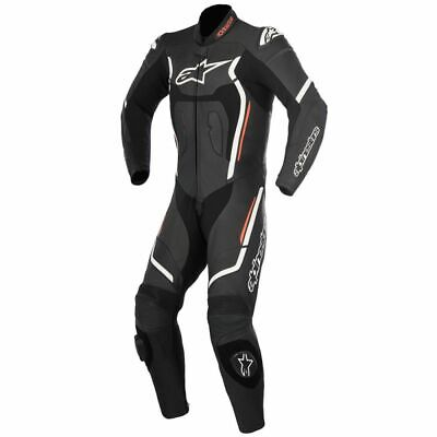 Alpinestars Motegi V2 Black White Red Fluo 1 Pc Leather Motorcycle Suit NEW