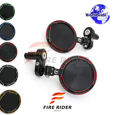 For Yamaha XJ6 Diversion MT07 MT09 Red Sonic CNC Rearview Bar End Mirrors