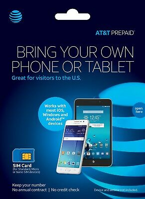 AT&T Prepaid Plans $35, $50, $65 + Sim with 1st Month (30 days Service)