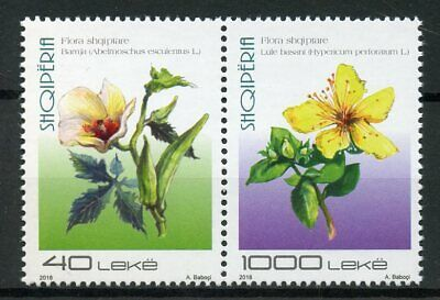 Albania 2018 MNH Albanian Flora 2v Set Flowers Plants Nature Stamps
