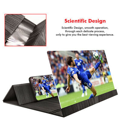 """12"""" 3D Mobile Phone Screen Magnifier HD Video Amplifier for Smartphone Stand"""