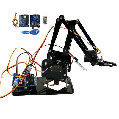 Acrylic 4 Axis WIFI Robotic Mechanical Arm Claw Gripper Servo For Arduino