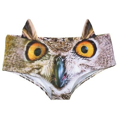 What On Earth Women's 3D Animal Face Underwear with Ears - Hipster Briefs