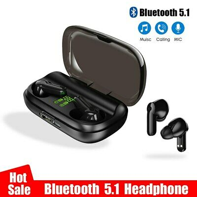 Bluetooth Wireless Headphones Sport IPX5 Waterproof  Loud Earphones Neckband