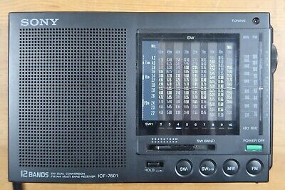 Sony Icf-7601 Multiband Am Fm Sw Analog Portable Receiver Vintage 12 Bands