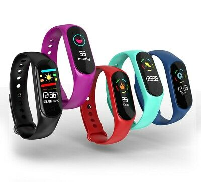 Smart Watch Fitness Activity Tracker Bluetooth Heart Rate Blood Pressure Fitbit