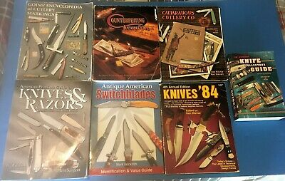 Knife Collectors Lot, 7  Refrence Books, Goins, Counterfitting,cattaragus, +++