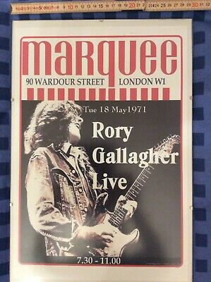Rory Gallagher Plakat - Live 1971 - Marquee