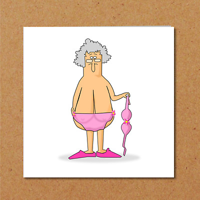 Funny Birthday Card 40th 50th 60th Wife Mum Female Friend Naughty Rude