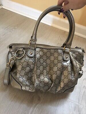 11cd9f0eec8 AUTHENTIC GUCCI GUCCISSIMA Grey Leather Sukey Hobo Medium  great ...