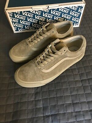 d1481647136cad VANS VAULT OG Old Skool lx Leather Suede Plaze Taupe M 10 Green ...