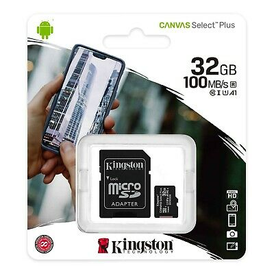 Kingston 32GB Micro SD Memory Card 32G SDHC Class 10 UHS-I TF with SD Adapter
