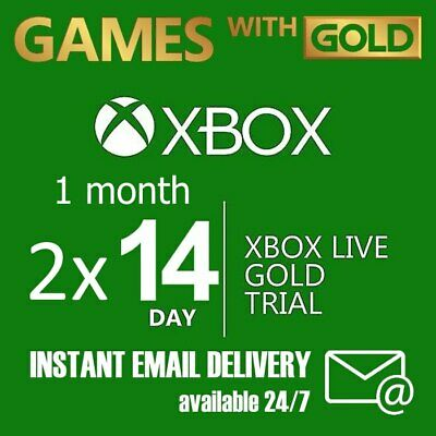 Xbox Live Gold  1 month membership Code (2x 14 days) INSTANT DELIVERY