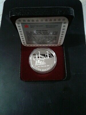 1991  Canada Silver Proof Dollar S.S. Frontenac Commemorative***FREE SHIPPING**