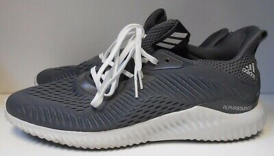9f2befae0 NEW Adidas HTF Men s 10 Alpha-bounce Shoes CQ1342 USA SELLER Gray White  BARGAIN!