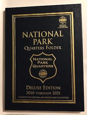 **New** WHITMAN National Park Quarters 2010-2021 P&D DELUXE EDITION Coin Folder