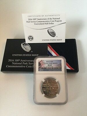 2016-D Unc 50c National Park Service Commemorative US mint clad half dollar NPS