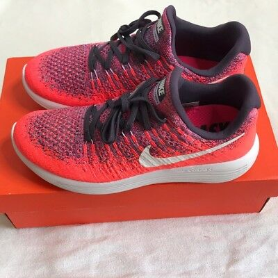 9f627c90a3c NEW Nike Womens Lunarepic Low Flyknit 2 II Pink Running Shoes Size 8.5