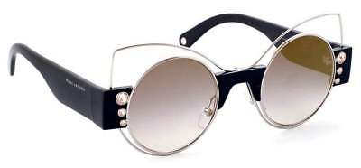 a6ddcc43aa13 ... Silver Round Gold Mirrored Crystal Stud Sunglasses.