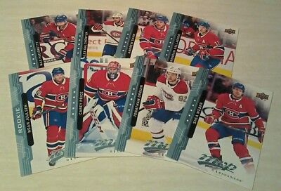 2018 -19 Montreal Canadiens Mvp Upper Deck Team Set  With Rookie Blue Parallel
