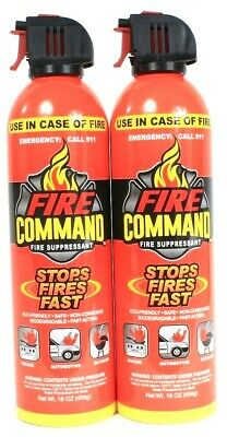 2 Fire Command 16 Oz Safe Non Corrosive Fast Acting Stops Fires Fast Suppressant
