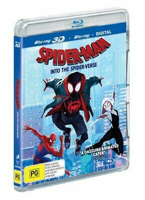 Spider-Man - Into The Spider-Verse (3D Blu-ray, 2019) (Region A,B,C) New Release