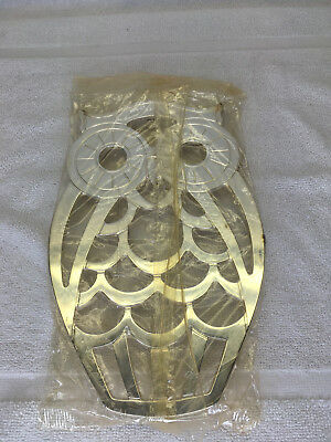 Vintage Leonard Italy Silver Plated OWL Kitchen Trivet  Wall Hanging