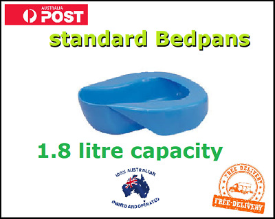 Bedpan Bed Pan 1.8 Litres Hard Plastic Reusable FREE Delivery Australia Wide NEW
