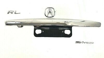 06 07 08 Acura RL Trunk Lid Trim Handle w Emblem Camera Option Chrome Black OEM